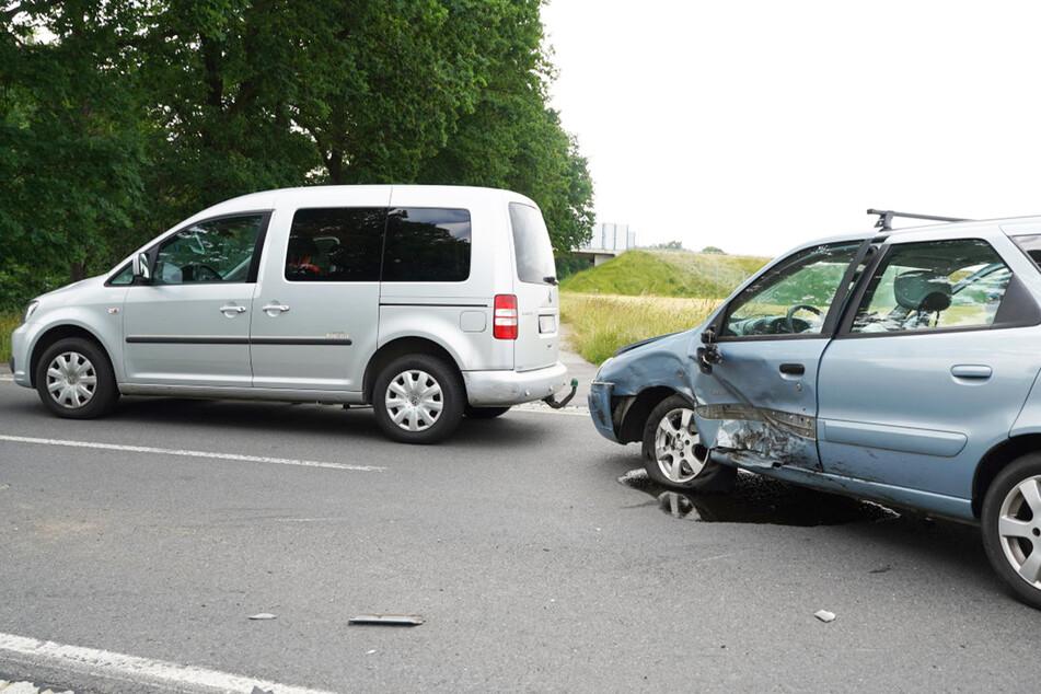 Nach dem Crash mit dem Opel wurde der Citroën gegen einen VW Caddy geschleudert.