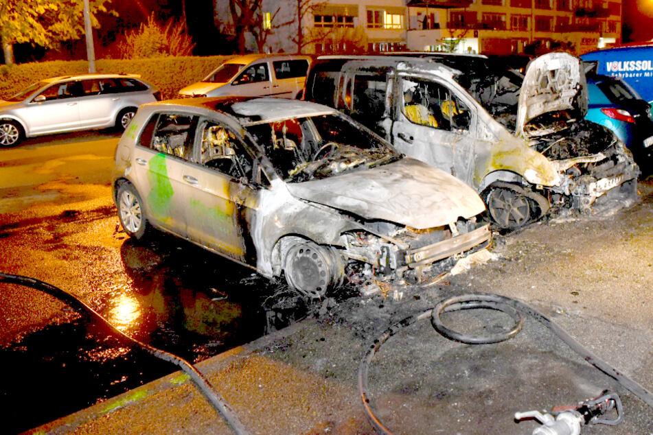 Drei Autos kamen zu Schaden.