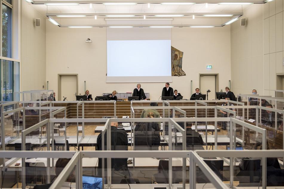 Ein Saal des Landgerichts in Koblenz (Rheinland-Pfalz).