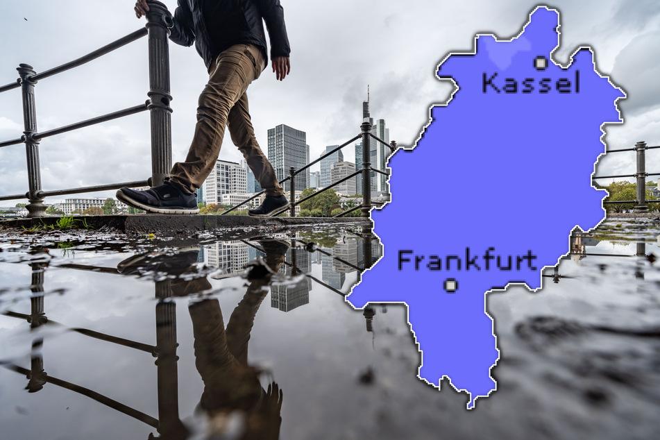 Überall Grau in Grau: Der Herbst hat Hessen voll im Griff