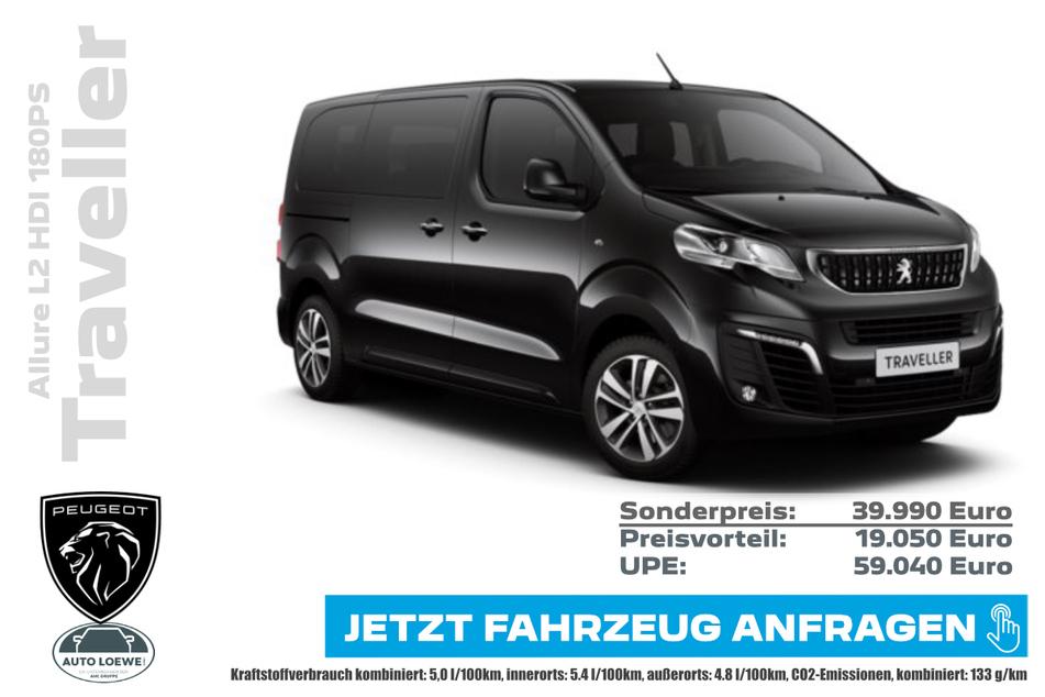 PEUGEOT Traveller Allure L2 HDI 180PS für 39.990 Euro