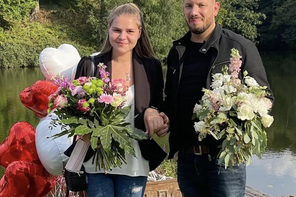 Sylvana Wollny (29) und Florian Köster (33) feierten vor zwei Tagen ihren Jahrestag. Florian krönte den schönen Tag mit einem Heiratsantrag.