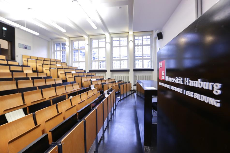 Blick in einen Hörsaal der Universität Hamburg. (Archivbild)