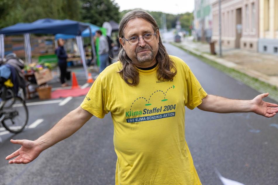 Der Chemnitzer Eckehard Erben (62) setzt sich seit Jahrzehnten gegen den Verbrenner ein.