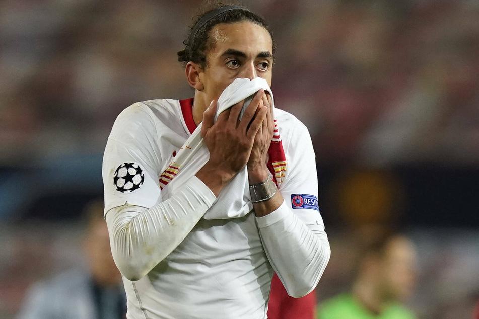 Yussuf Poulsen (25) mit sichtlich geschocktem Gesichtsausdruck nach der höchsten Pleite der Vereinsgeschichte.