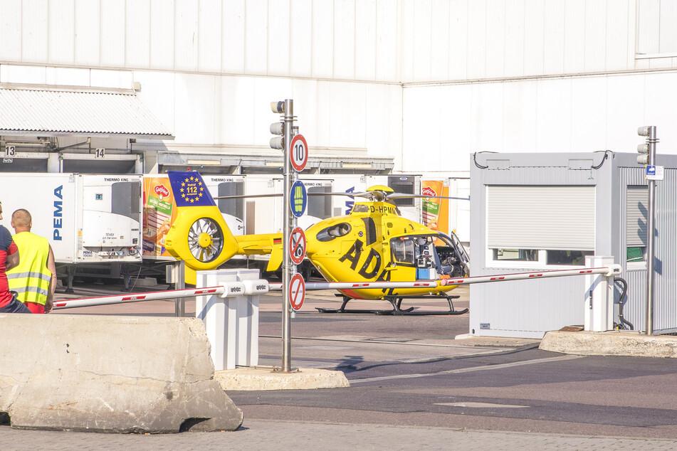 Auch ein Rettungshubschrauber war am Donnerstag im Einsatz.
