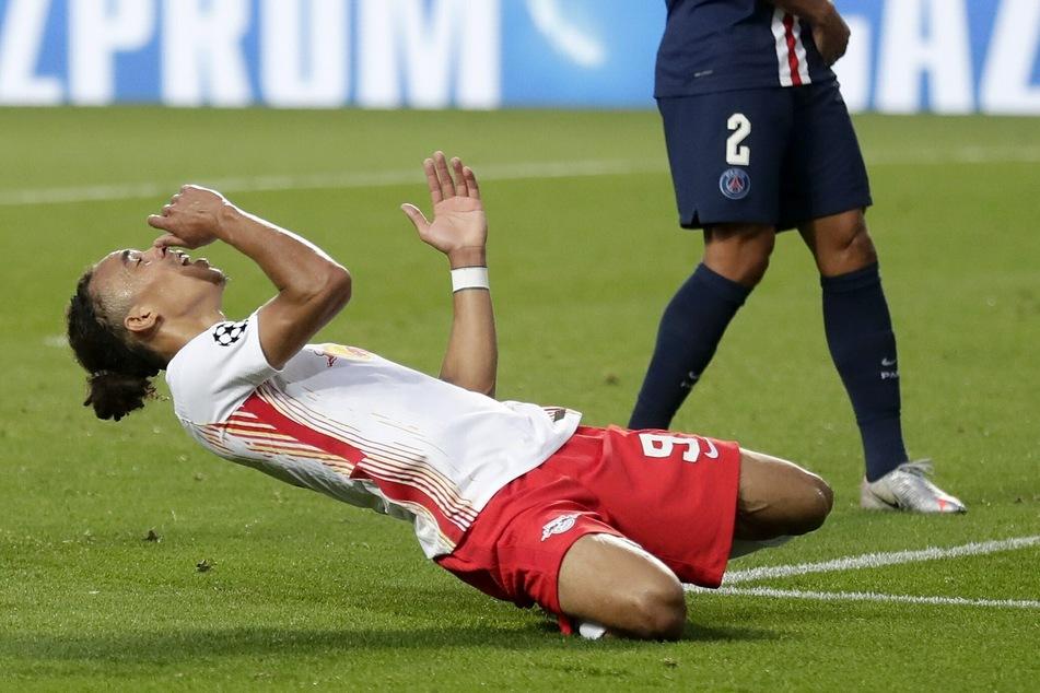 Stürmer Yussuf Poulsen ließ die beste RB-Gelegenheit in der ersten Halbzeit liegen.