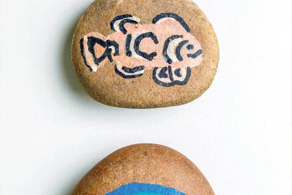 Auch diese Steine haben es in die Sammlung geschafft.