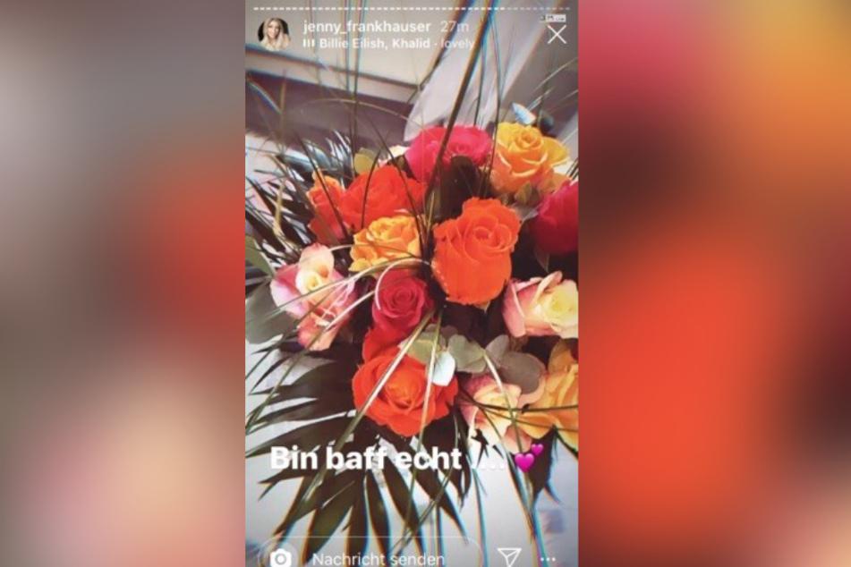Diese Blumen bekam Jenny Frankhauser geschenkt.
