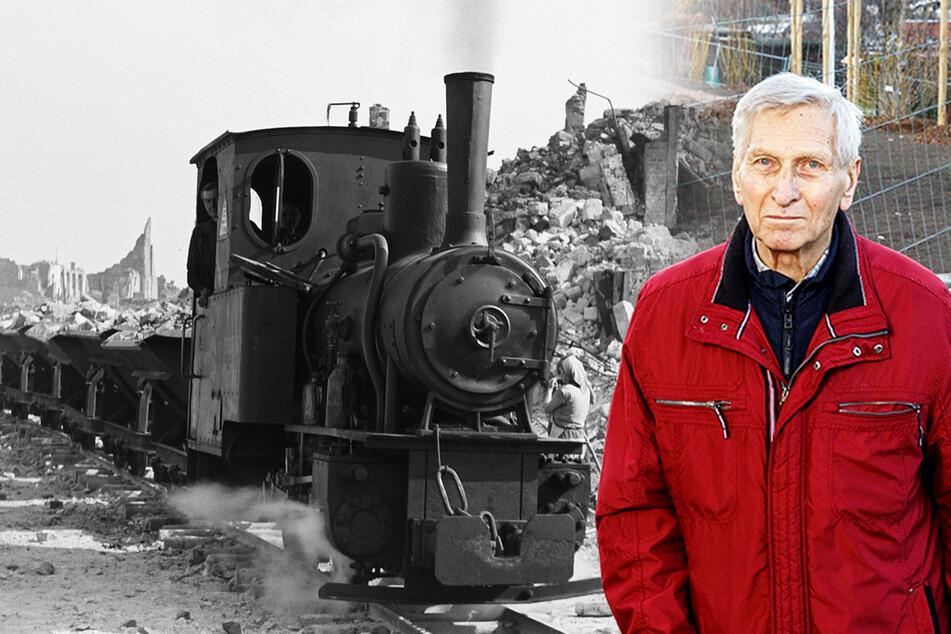 Kriegsschutt aus Dresden gefahren: Er ist der letzte Heizer der Dresdner Trümmerbahnen!