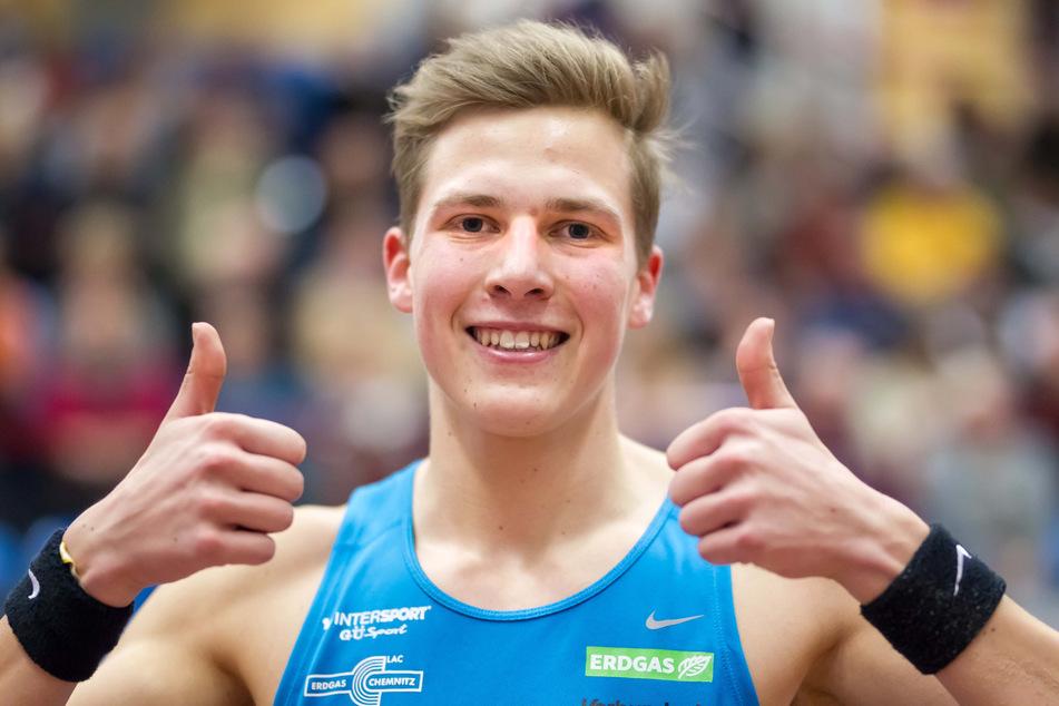 """Dreisprung-Europameister Max Heß sieht sich als """"kleiner Gewinner der Corona-Krise"""". (Archivbild)"""