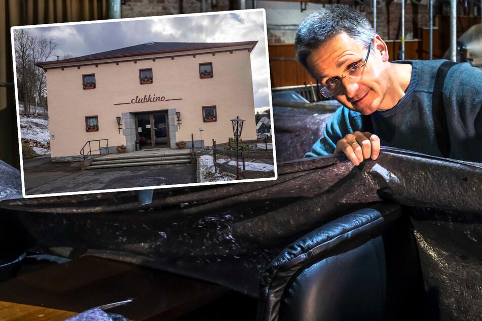 Erzgebirger steckt 100.000 Euro in Kino-Renovierung und verkauft alte Sessel!