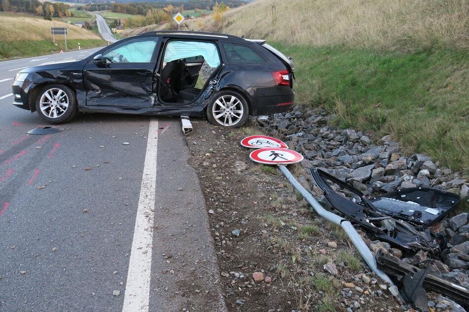 Mehrere Verletzte bei schwerem Unfall auf A72-Zubringer