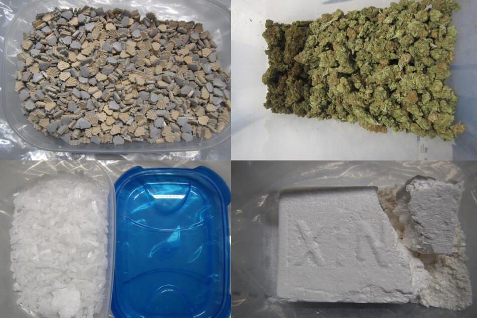 Über zehn Kilogramm verschiedener Drogen im Wert von 100.000 Euro fanden die Polizisten in der Mainzer Wohnung.