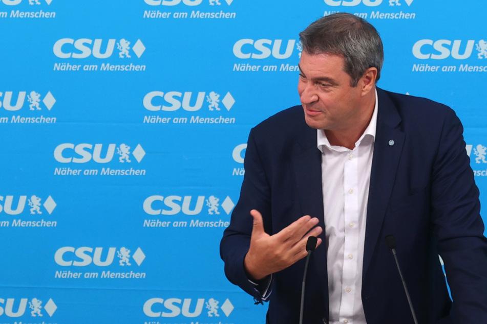Markus Söder (54), CSU-Vorsitzender, spricht beim Bezirksparteitag der CSU Oberbayern.