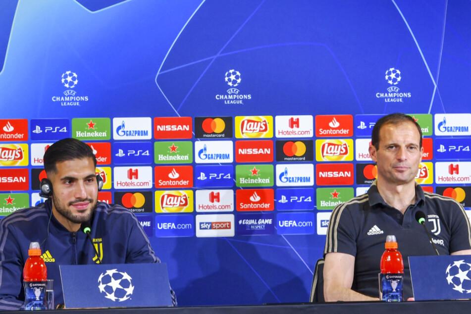 Massimiliano Allegri (r.) arbeitete bei Juventus Turin erfolgreich mit dem aktuellen BVB-Star Emre Can zusammen.