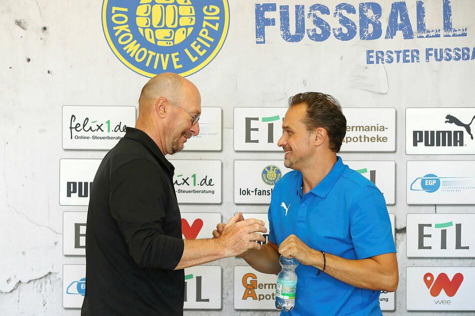 Wolfgang Wolf (62, l.) dankte als Sportdirektor und Interimstrainer ab, Nachfolger auf beiden Posten wurde Almedin Civa (48).