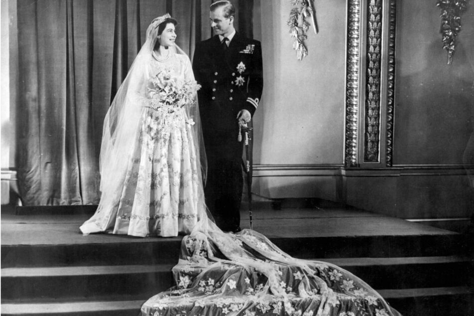 Queen Elizabeth II and Prince Philip married on November 20, 1947 (archive image).