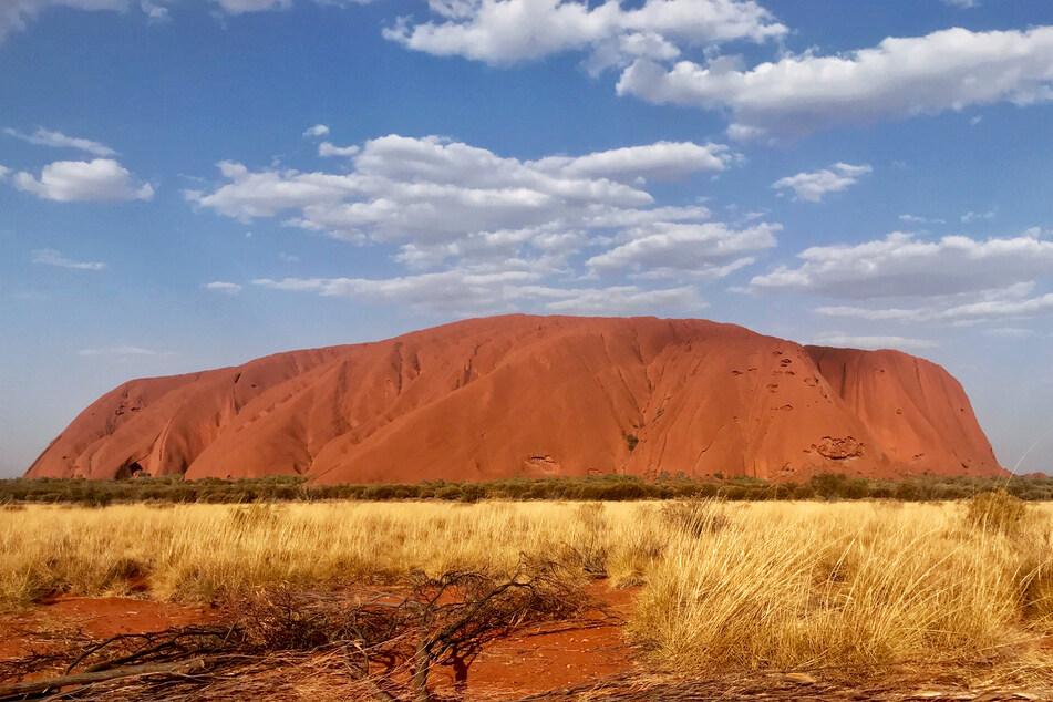 "Australiens ""Heiliger Berg"", der Uluru (Ayers Rock)."