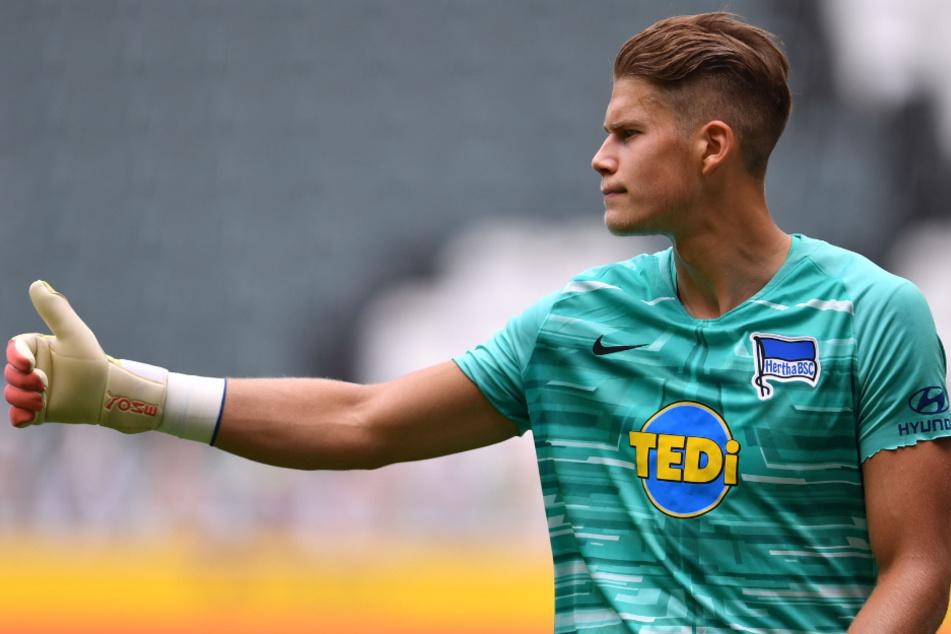 Nachwuchskeeper Dennis Smarsch kommt für Hertha BSC auf insgesamt zwei Bundesliga-Einsätze.