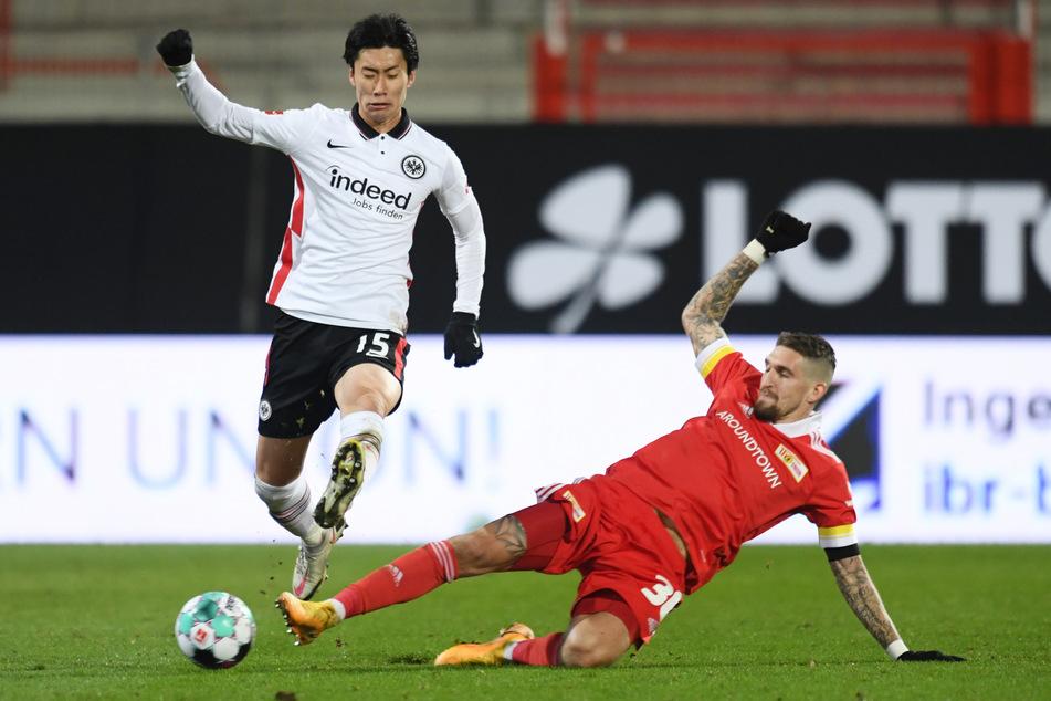 Daichi Kamada (24, l.) absolvierte bislang 86 Partien für Eintracht Frankfurt und kam dabei auf 15 Tore und 24 Vorlagen.