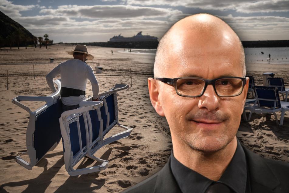 """Christoph Maria Herbst entspannt am Strand? """"Nicht Wellness, was wir hier machen"""""""