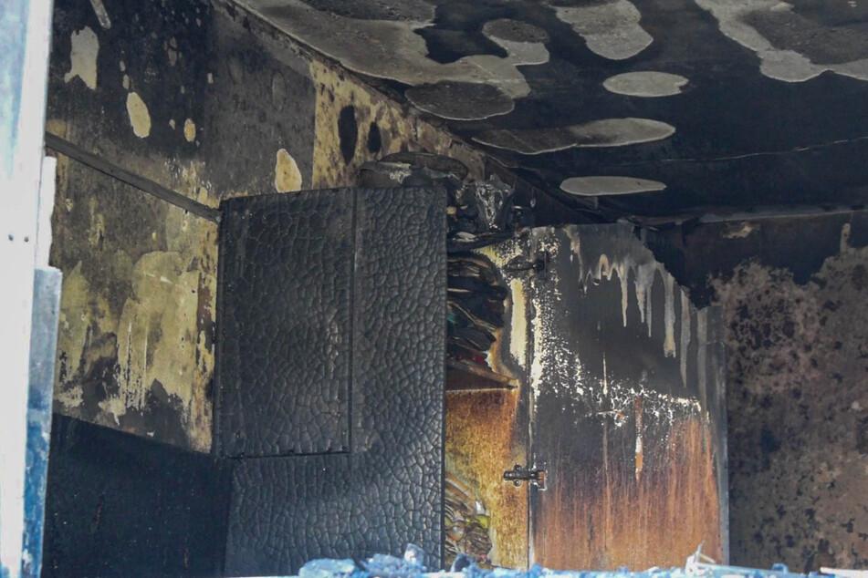 Die Erdgeschosswohnung wurde durch das Feuer stark beschädigt.