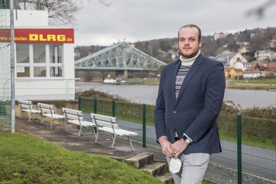DLRG-Chef Sebastian Knabe (29) warnt davor, die Abkühlung zu unterschätzen.
