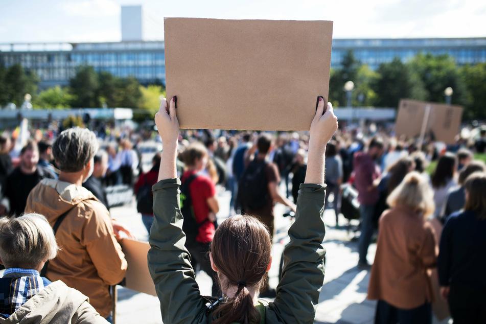 Am Montag wird in der Leipziger Innenstadt demonstriert. (Symbolbild)