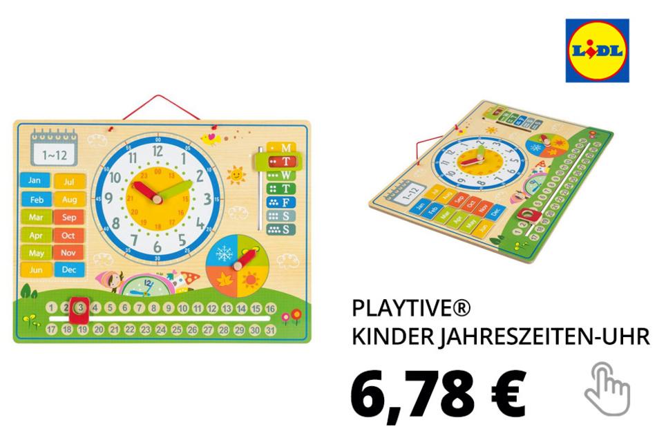 PLAYTIVE® Kinder Jahreszeiten-Uhr