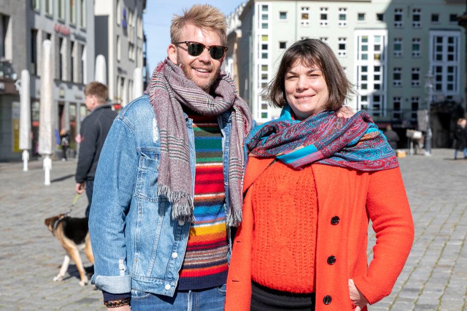 Sie findet die Einschränkungen richtig, er alles übertrieben: Eva Gembe (39) und Mario Gerards (35) auf Stippvisite in der Stadt.