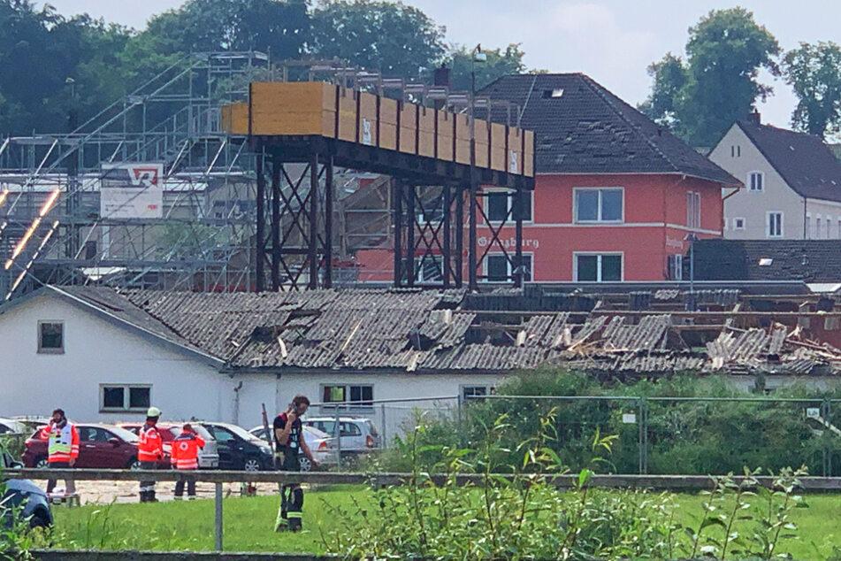 Mehrere Menschen wurden durch die Explosion in Günzburg verletzt.