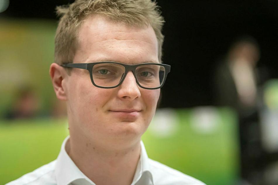 Fordert Aufklärung im Innenausschuss: Valentin Lippmann (29) von den Grünen.