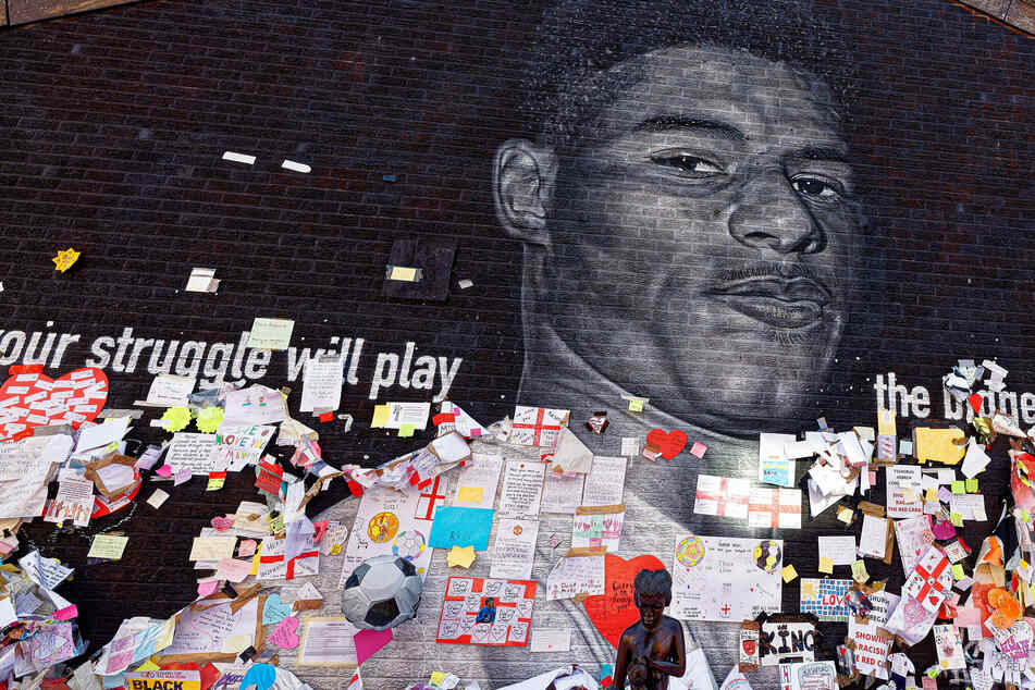 In addition to the social media abuse, a mural of England and Manchester United attacker Marcus Rashford was defaced after the Euro 2020 final.