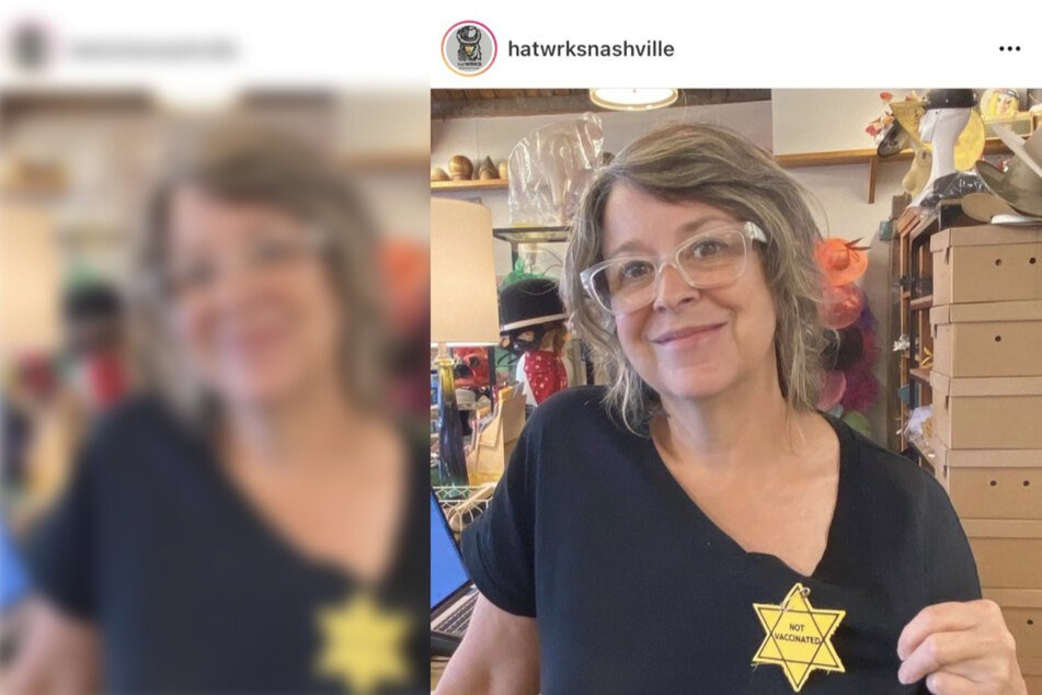 """Nashville hat store issues defensive apology for """"Not Vaccinated"""" Holocaust-era yellow stars"""