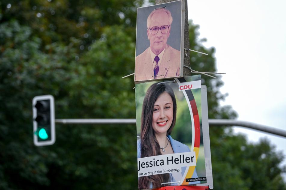 Das Antlitz des früheren Staatschefs der DDR hängt dort zwar unerlaubt, hat aber keinen strafrechtlich relevanten Inhalt.