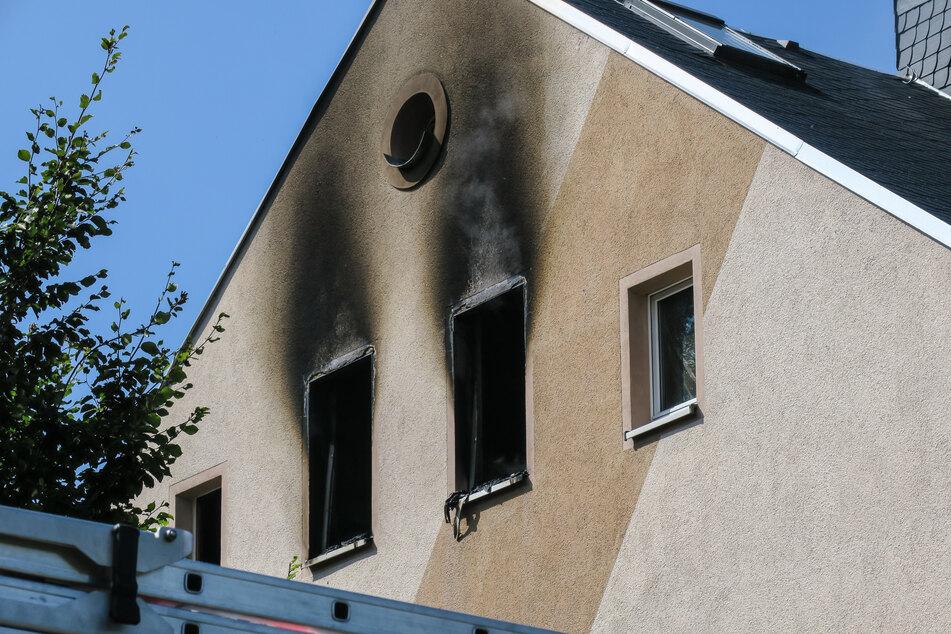 In Lugau in Sachsen brannte eine leehrstehende Wohnung aus.