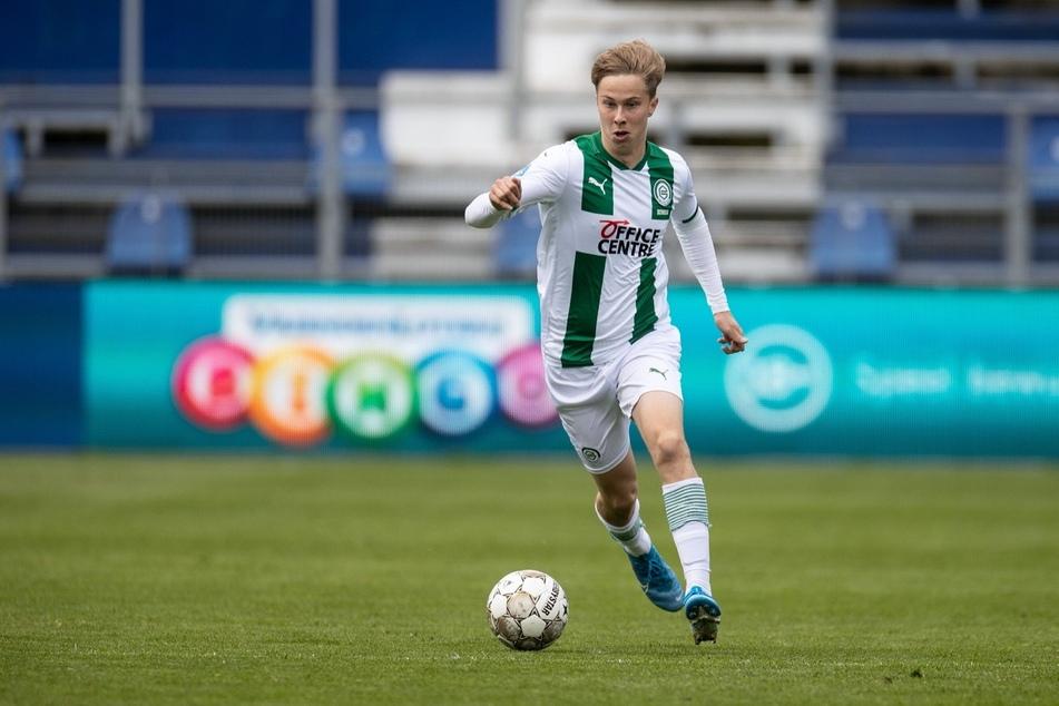 Sam Schreck (22), hier noch im Groningen-Trikot, spielt künftig beim FC Erzgebirge Aue.