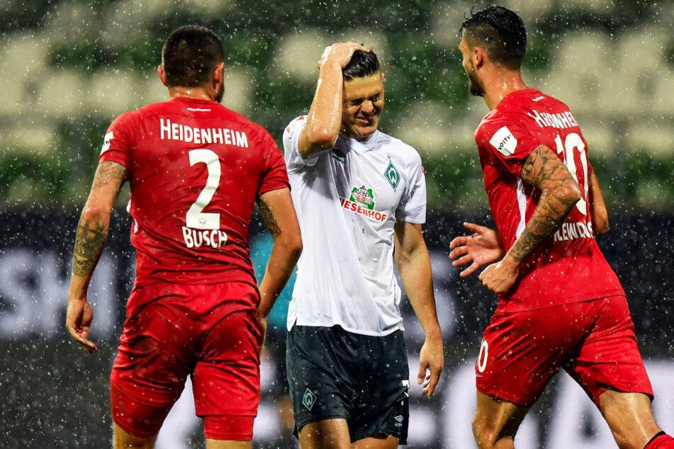 Werder-Stürmer Milot Rashica (M.) kam im Hinspiel überhaupt nicht zur Geltung. Ändert sich das im Rückspiel?