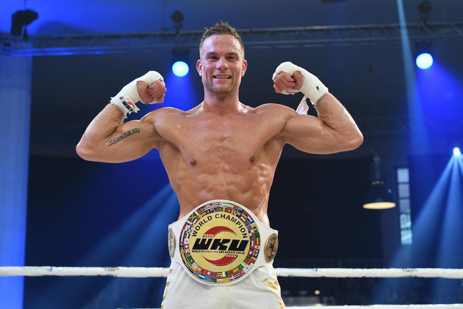 2018 wurde Sebastian Preuss Weltmeister im Thaiboxen (Foto: Felix Hörhager/dpa).