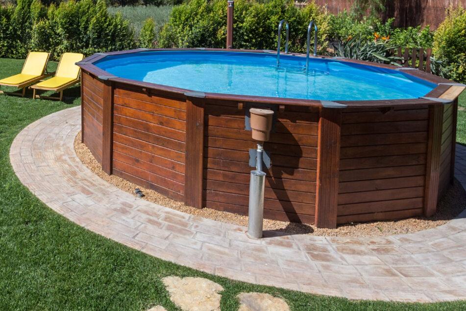 Dreist! Über 3 Meter großer Pool aus Garten geklaut