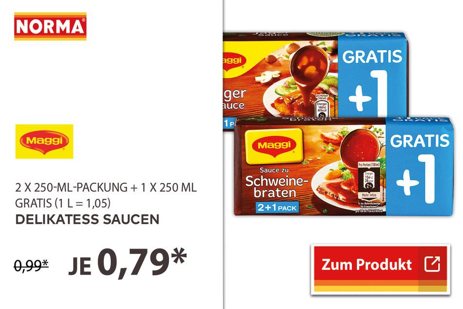 Delikatess Saucen für 0,79 Euro.