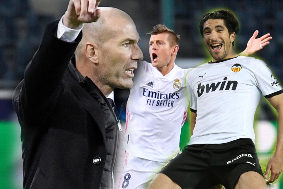 Real Madrid bekommt 1:4-Packung: FC Valencia schießt Zidane weiter in die Krise!