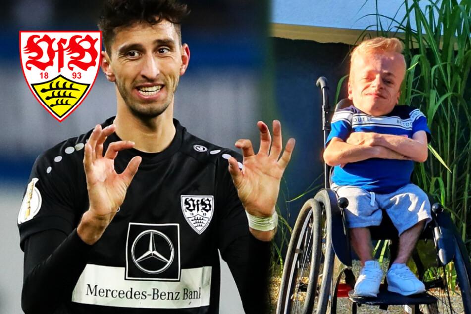 VfB-Profi Karazor unterstüzt Rollstuhl-eSportler Niklas bei Wahl