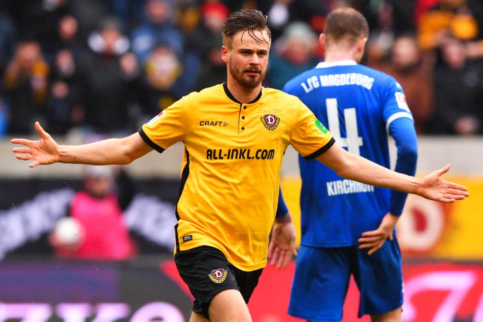 Lucas Röser (27) traf für Dynamo in 57 Einsätzen 14 Mal und gab drei Vorlagen. Langfristig durchsetzen konnte er sich in Dresden aber nicht.