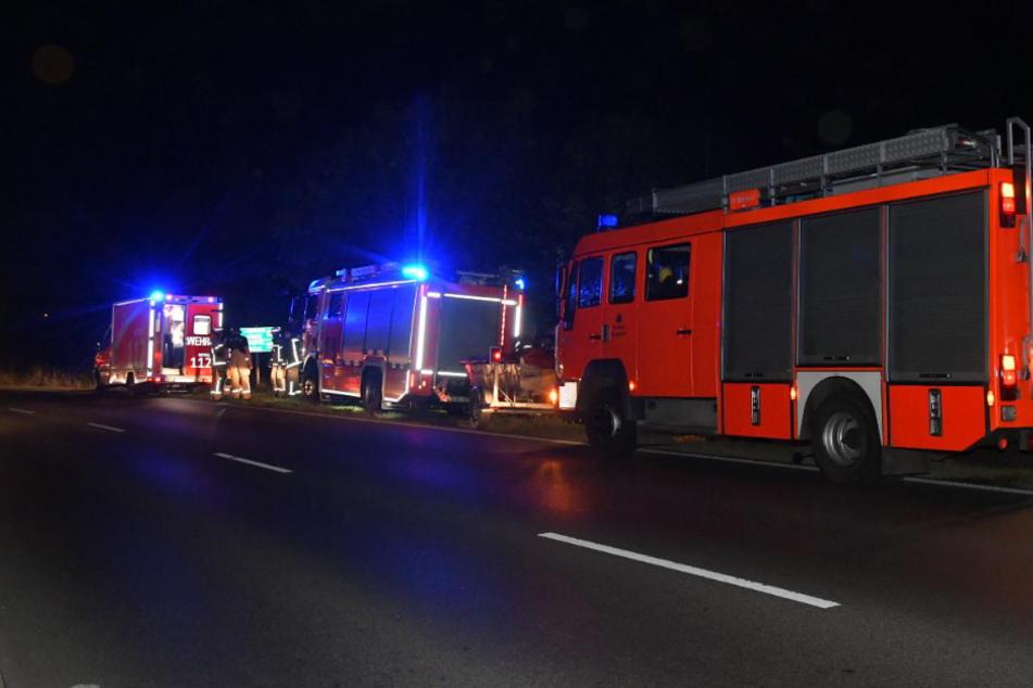 Feuerwehrautos am Fundort.
