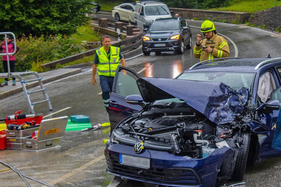 In dem Unfallauto saß ein Urlauber-Ehepaar aus der Oberpfalz.
