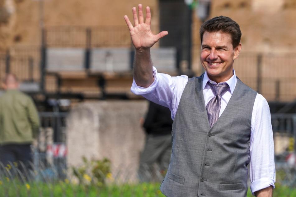 Unsicher, ob Original oder Fake? Das ist der echte Tom Cruise (58) bei Dreharbeiten in Rom im Oktober 2020.