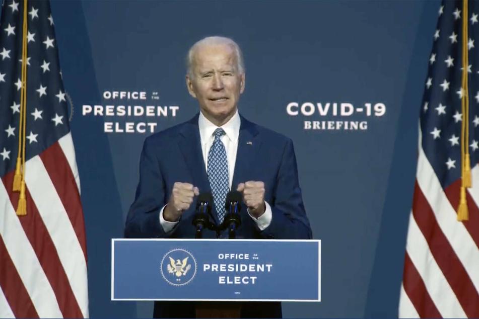 President-elect Joe Biden speaking at the launch of his coronavirus taskforce.