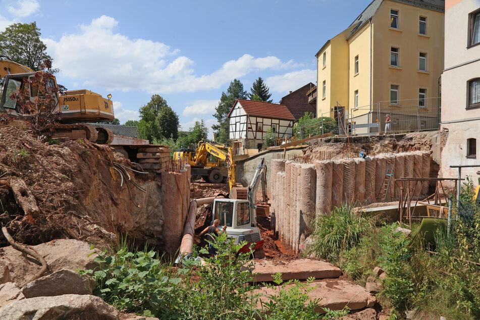 Nach Brückenabriss: Häuser stehen am Abgrund